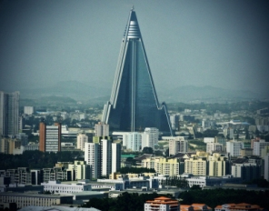Architecture remains one of the few means of creative expression in the DPRK. Pictured here one of the world's largest hotels, built in the country's capital.