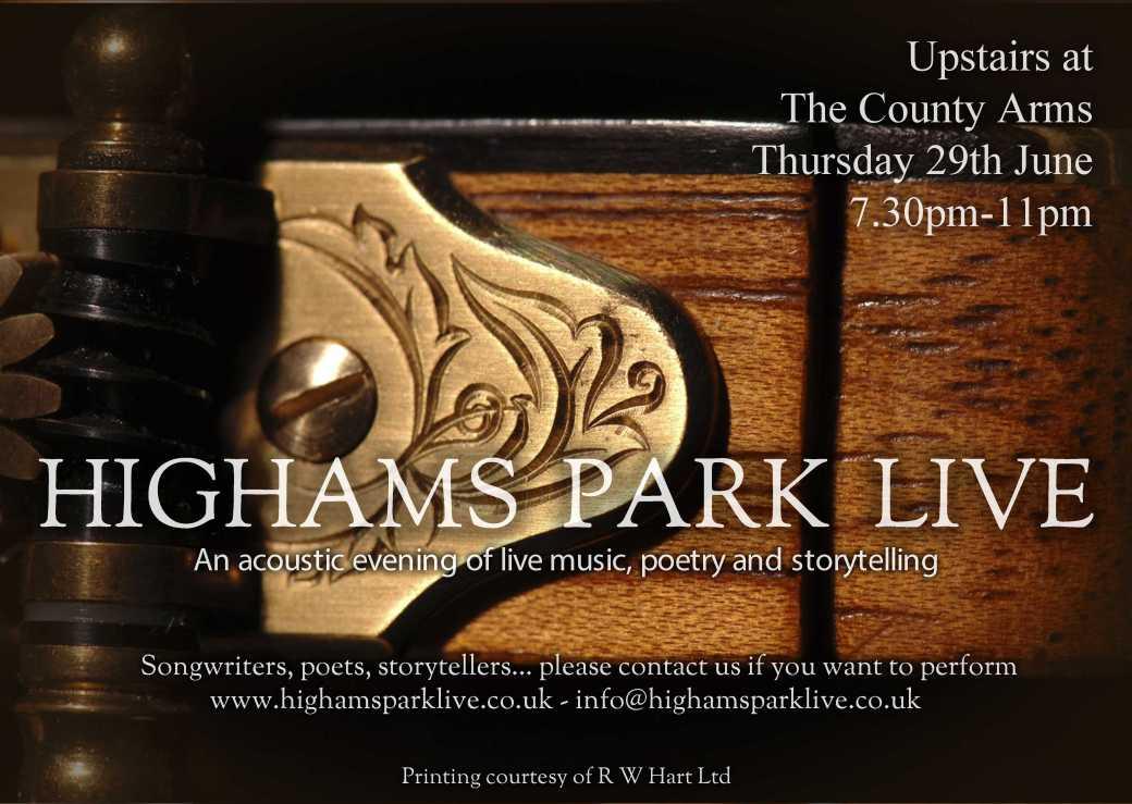 Highams Park Live June Poster