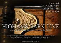 Highams Park Live June Poster